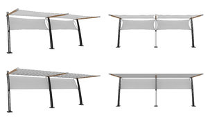 outdoor white awnings model
