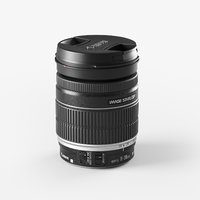 canon lens 3D model