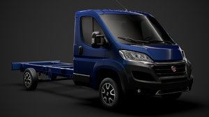 3D model fiat ducato chassis truck