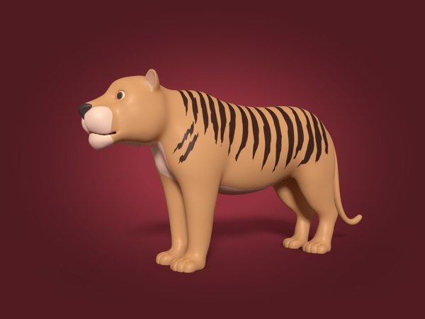 cartoon tiger 3D model