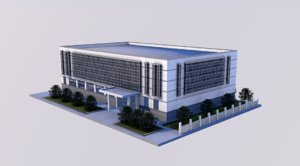 office building factories 3D model