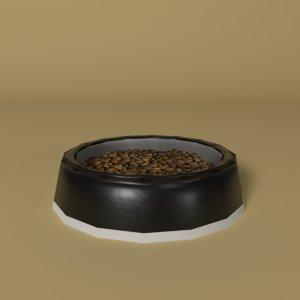 food bowl dog - 3D model