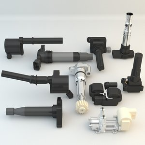 10 engine car pieces model