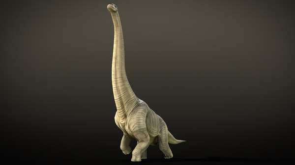 rigged brachiosaurus animations 3D model
