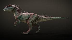 3D rigged allosaurus animations
