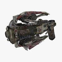 sci-fi weapon type 11 3D model