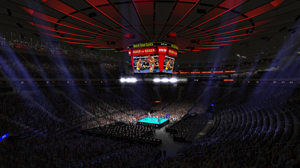 3D model msg boxing arena audience