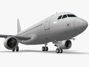 3D airbus a319 airliner