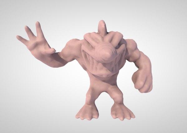 cartoon character shark 3D model