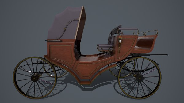 pbr retro carriage 3D model