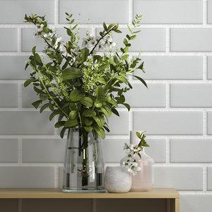 decorative set 31 vases 3D model
