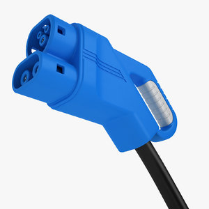 ev charging plug 3D model