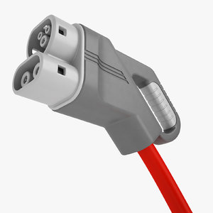 3D ev charging plug