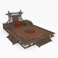 medieval china construction c 3D