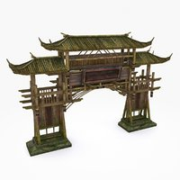 3D model medieval china construction