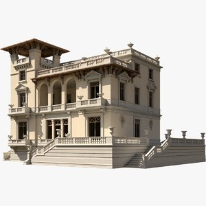 3d model ancient villa