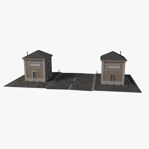 3D model french buildings