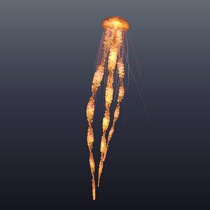 realistic jellyfish 3D model