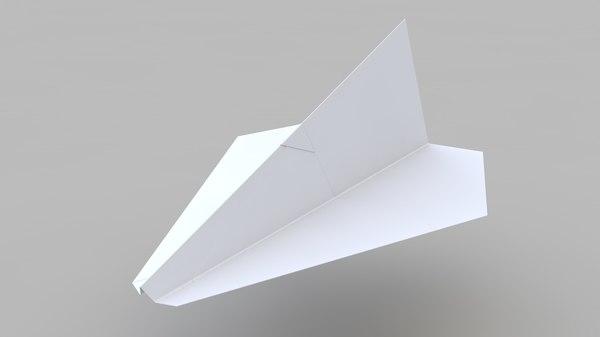 3D model paper plane