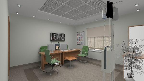 3D polyclinic room