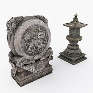 3D medieval china elements