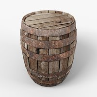 Old Barrel low-poly