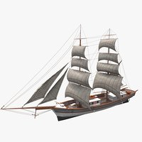 3D kronor ar stockholm ship model