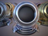 metal materials 3D model