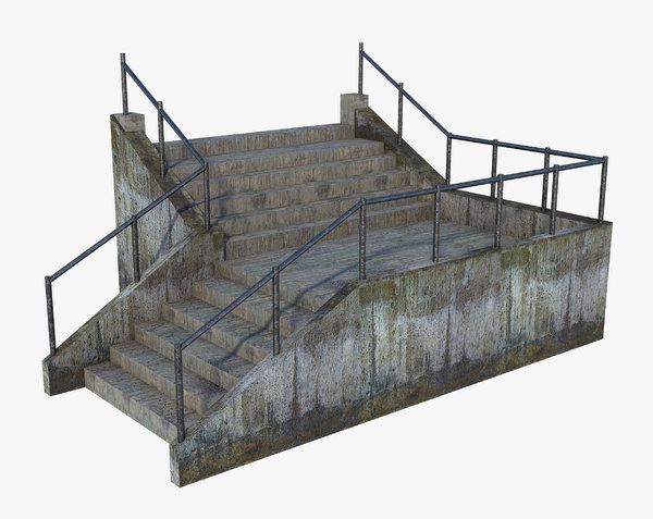 stair old 3D model