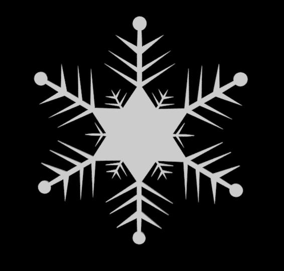 3D snowflake snow