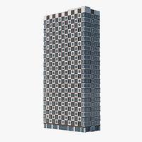 3D checker building model