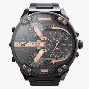 3D realistic wrist watch diesel