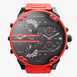 3D realistic wrist watch diesel model
