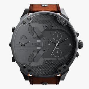 realistic wrist watch diesel 3D