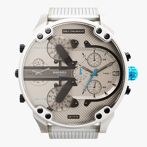 realistic wrist watch diesel 3D model