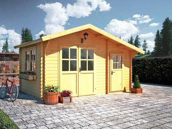 wood house 3D