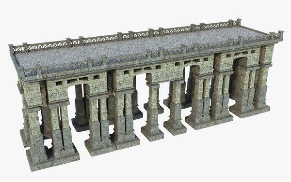 3D bridge fantasy classic model