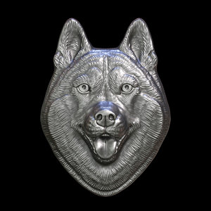husky head 3D model