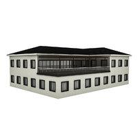 3D modern building 2 model