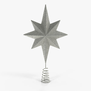 3D holiday silver star christmas