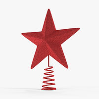 red star tree topper 3D model