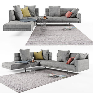 sofa gordon 496 walter knoll 3D