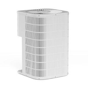 grey heat pump 3D model