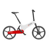 3D white electric bike model