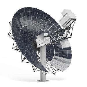 large solar dish 3D model