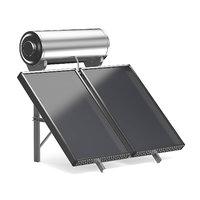 3D model solar heating panel