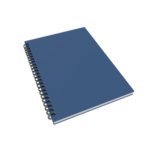 3D notebook notes journal model