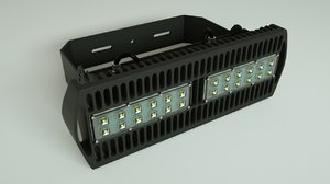 led light bar 3D model
