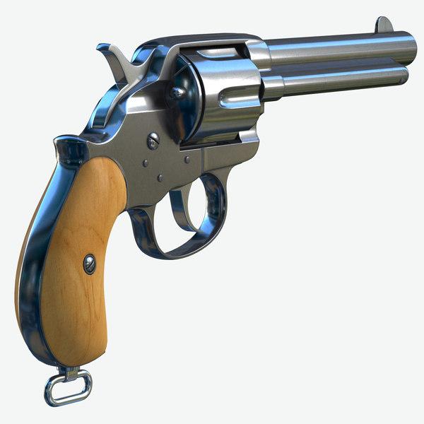 3D модель Кольт 1878 двойного действия Граница - TurboSquid 1456849