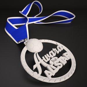 3D printable soccer medal star model